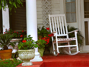 porch at a tea room