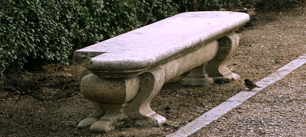 Styles of garden benches photos Stone garden bench