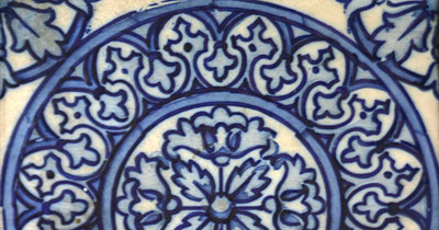 BLUE WHITE FLOOR TILE PORCELAIN