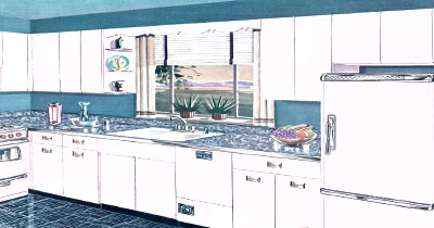 VINTAGE KITCHEN DESIGN 1950S KITCHEN IDEAS
