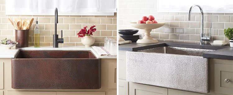 Two Unique Styles Of Farmhouse Sinks. As With All Native Trails ...