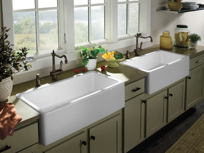 Farmhouse Kitchen Pictures (11 of 16) - Double Farm Sinks