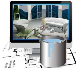 INTERIOR DESIGN SOFTWARE AND VIRTUAL ROOM PAINTER