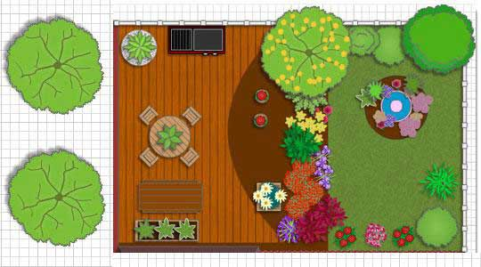 Patio Plan from Free Patio Design and Deck Design Software