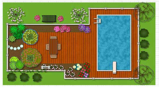 Genial Deck Patio Design With Pool Software Program.