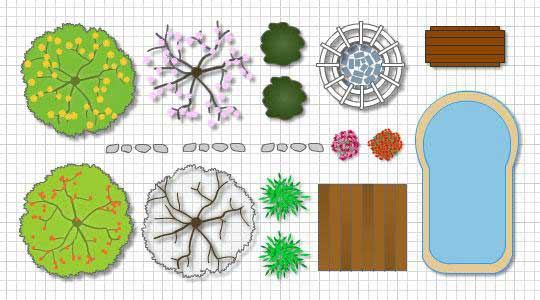 Backyard designs start with free landscape design software Blueprint designer free