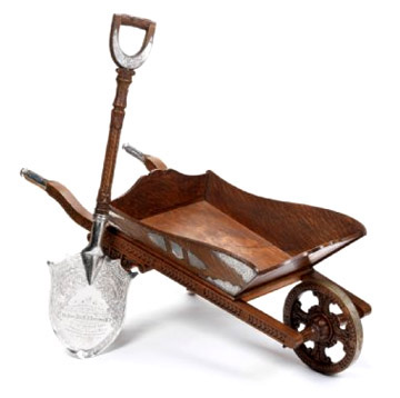 antique wheelbarrow