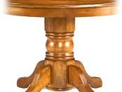 antique oak pedestal table_6