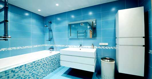 blue bathoom design