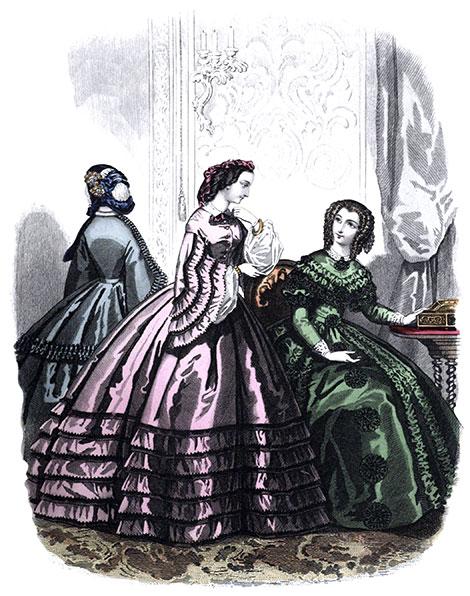1860 dinner dress