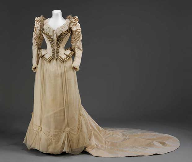 wedding dress 1890