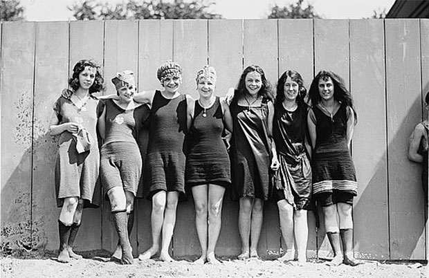 Vintage bathing suits, c.1929.
