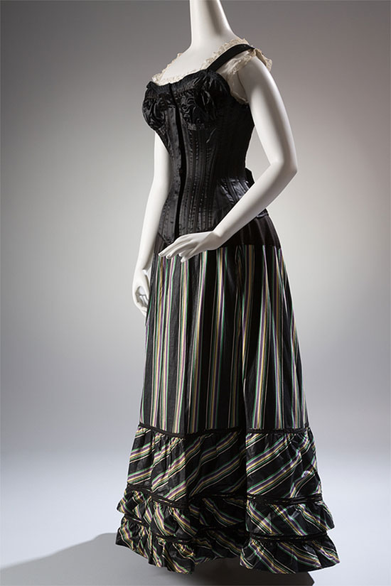 The M.A. Spencer Company Corset of silk satin, circa 1898. [Image credit: Fashion Institute of Technology, www.fitnyc.edu/museum.asp]