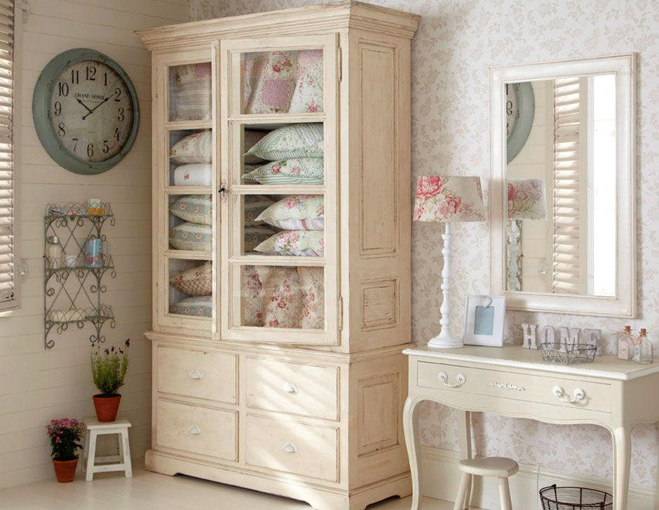 This room was inspired by Live Laugh Love's passion for shabby chic, with painted furniture, a range floral cushions, vintage style clocks and decorative accessories that are all available from www.livelaughlove.co.uk