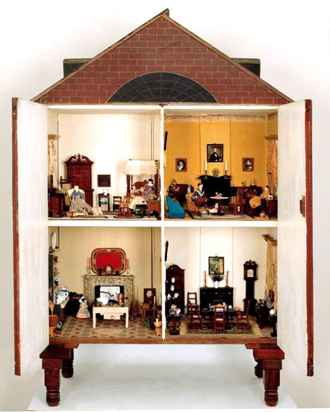 Morris-Canby-Rumford Dollhouse, Philadelphia, Pennsylvania, 1820, wood and various materials, gift of Mr. and Mrs. Lewis Rumford II, 1981.1200.2. Art Museums of Colonial Williamsburg