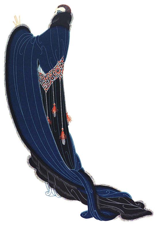 Erte S Fashion Designs  Illustrations From Harper S Bazar