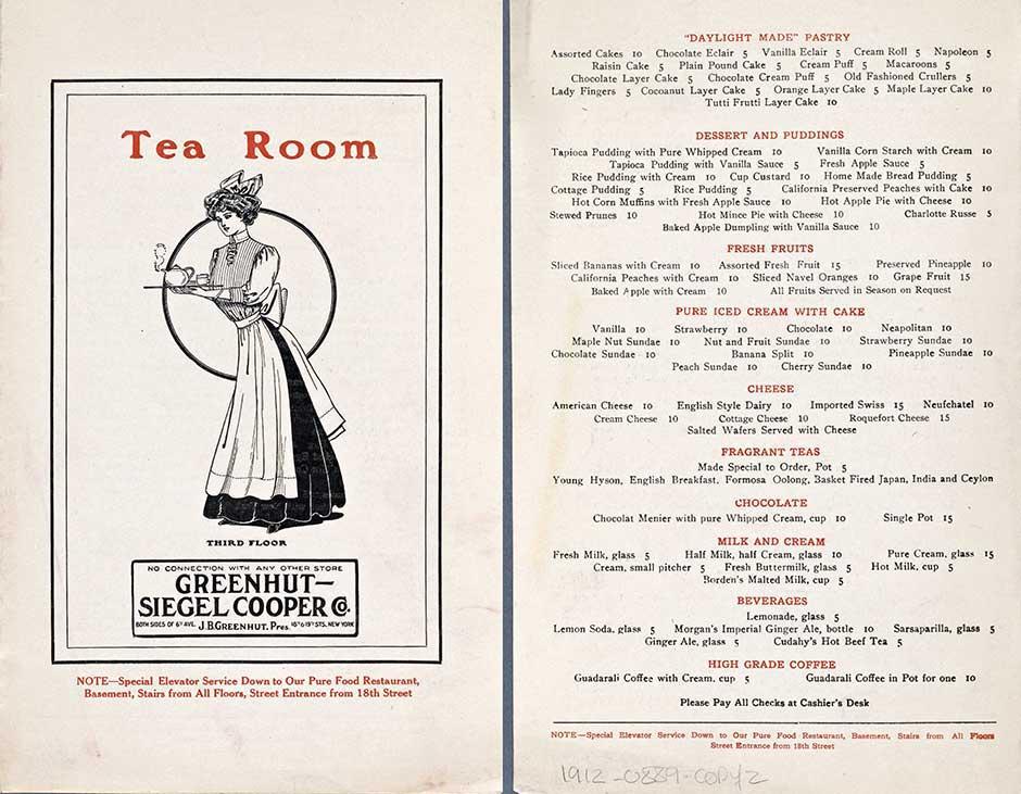 Tea Party Menus - 8 Scrumptious Vintage Tea Room Menus
