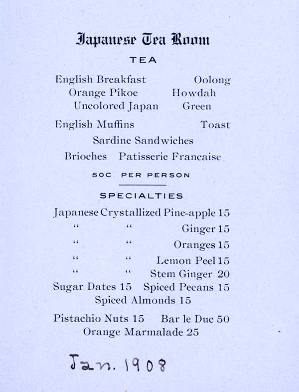 Tea Party Menus 8 Scrumptious Vintage Tea Room Menus