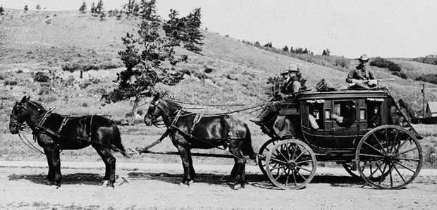 19th century stagecoach. [Photo: Library of Congress]