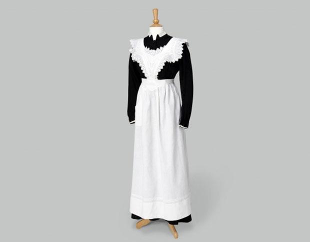 Maids Uniform Black Dress with White Apron. Photo Credit Exhibits Development Group. & Fabulous Downton Abbey Costumes (PHOTOS)