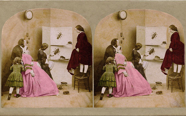 'Awful Discovery', one of Brian May's stereoscopic photographs from 'Poor Man's Picture Gallery'  [Photo: Brian May]