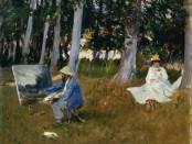Claude Monet Painting by the Edge of a Wood, John Singer Sargent. Photograph: Metropolitan Museum of Art.