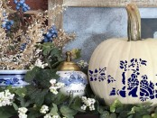Blue and White Pumpkins
