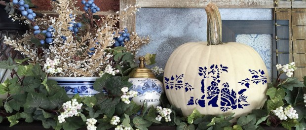 Try Blue And White Pumpkins This Fall