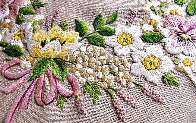 spring embroidered tablecloth