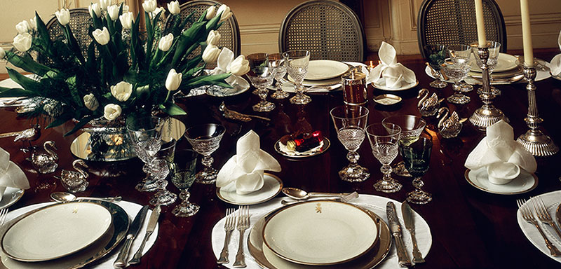 elegant dining table decor dining area table setting ideas how to set formal dinner photos