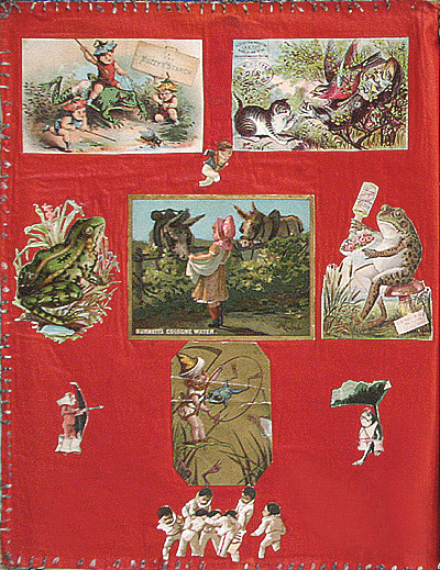 antique scrapbook pages