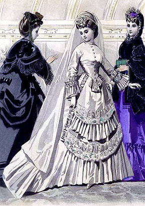 Victorian Wedding Dress 1870