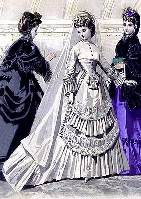 Victorian Wedding Dress 1870